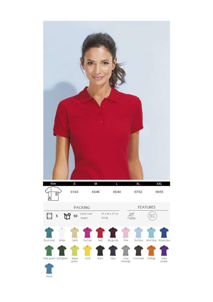 Moteriški polo marškinėliai 170