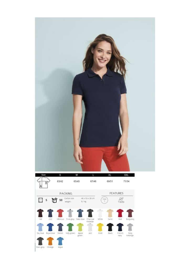 Moteriški polo marškinėliai 180