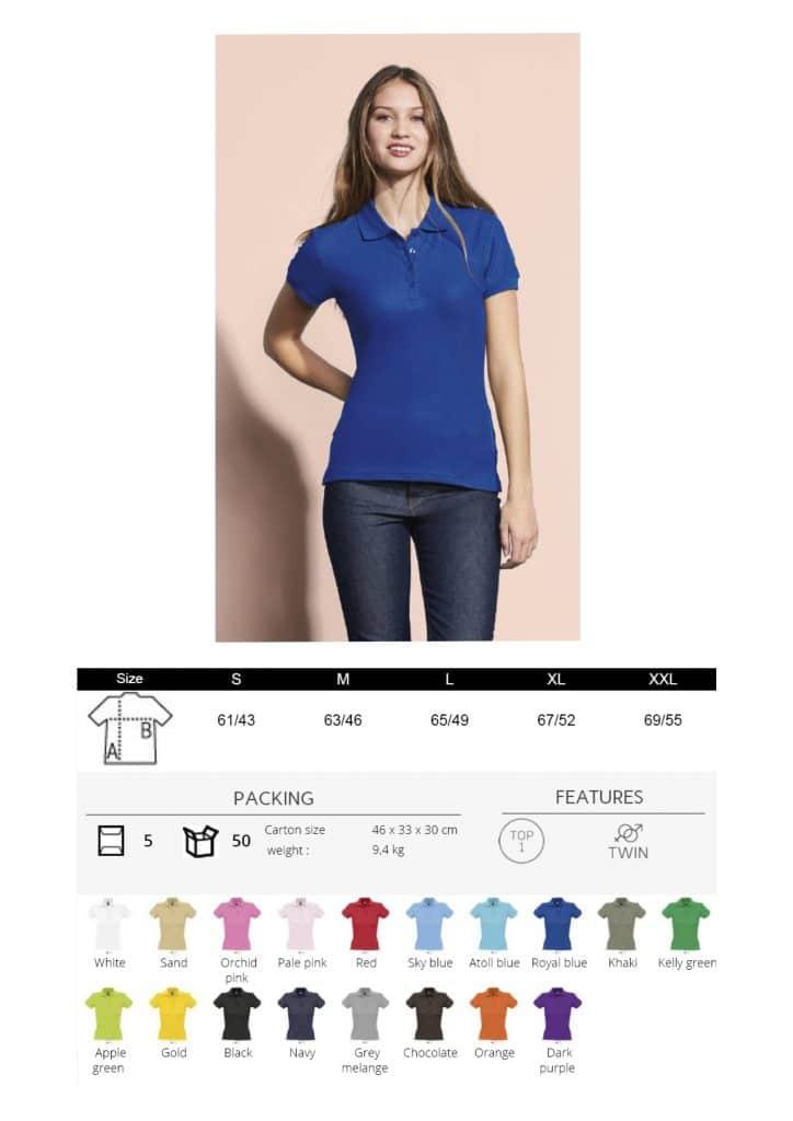 Moteriški polo marškinėliai 210
