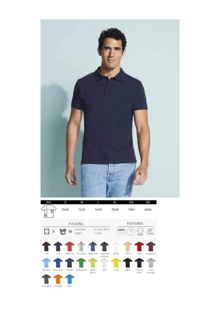 Vyriški polo marškinėliai 180