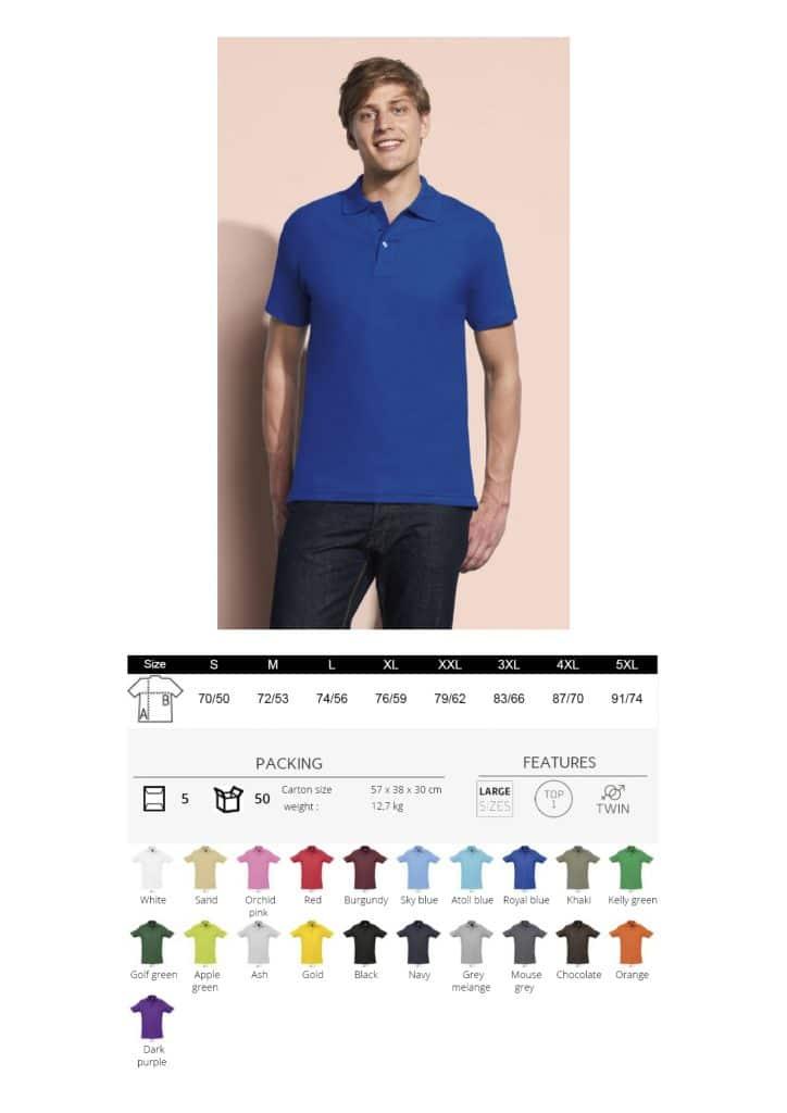 vyriški polo marškinėliai 210