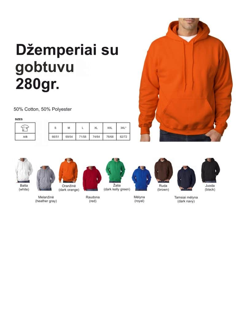 Džemperiai su gobtuvu