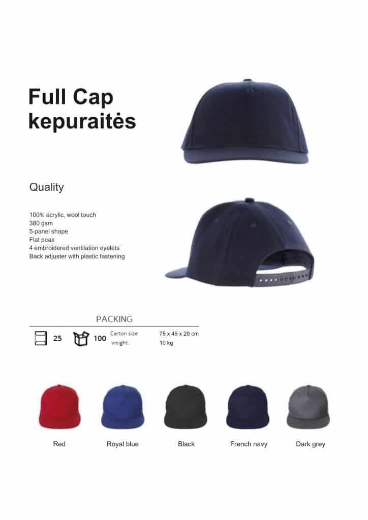 Full cap kepuraitės