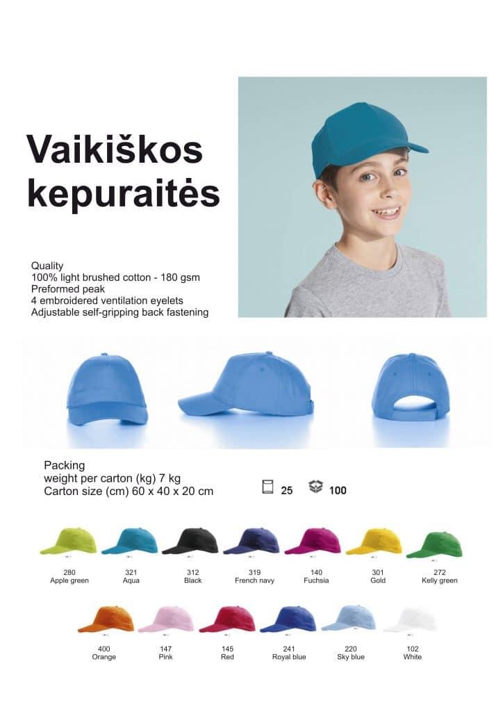 Vaikiškos kepuraitės