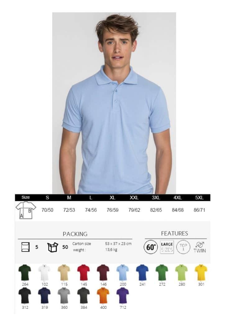 Polo marškinėliai pusiau sintetiniai vyriški