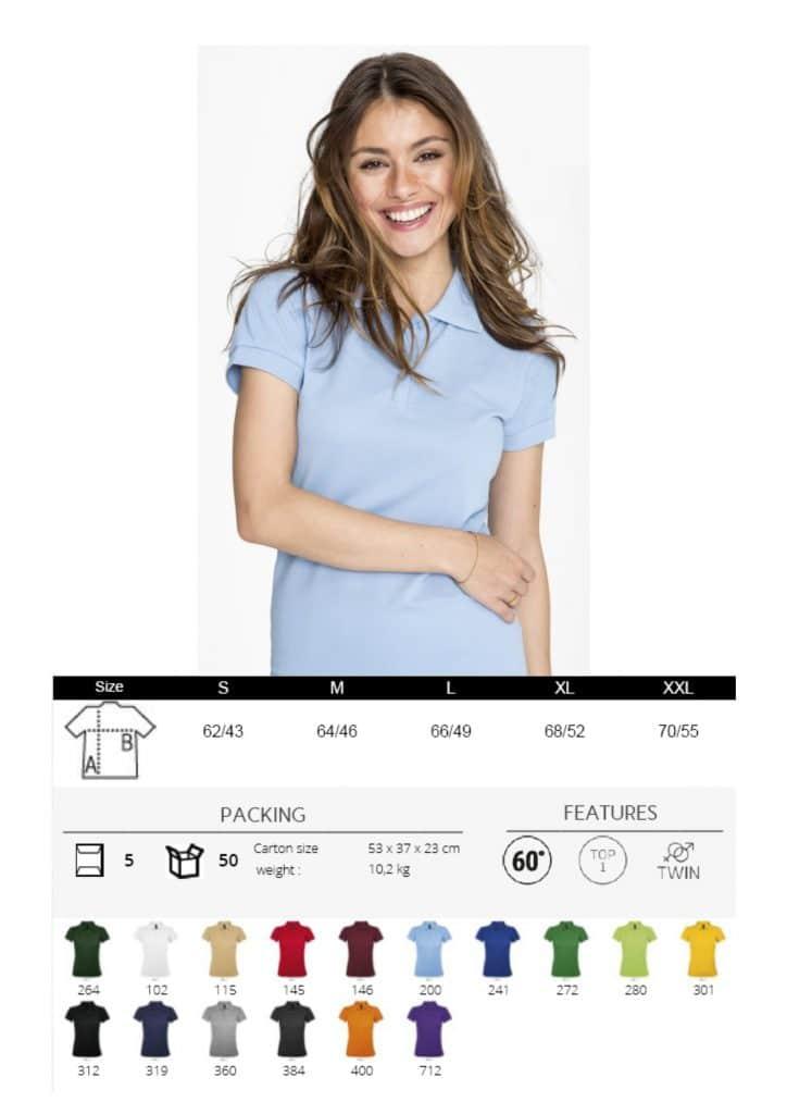 Polo moteriški pusiau sintetiniai marškinėliai